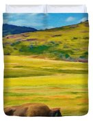 Lone Buffalo Duvet Cover by Jeff Kolker