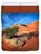 Lone Juniper Duvet Cover by Inge Johnsson