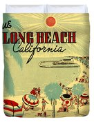 Long Beach 1946 Duvet Cover by Nomad Art And  Design