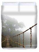 Long Rope Bridge Duvet Cover by Skip Nall