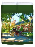 Longfellows Wayside Inn Duvet Cover by Barbara McDevitt