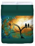 Longing By Madart Duvet Cover by Megan Duncanson