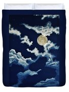 Look At The Moon Duvet Cover by Katherine Young-Beck