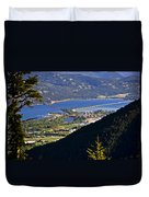 Looking Down On Sandpoint Duvet Cover by Albert Seger