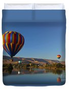 Looking For A Place To Land Duvet Cover by Mike  Dawson
