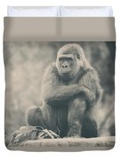 Looking So Sad Duvet Cover by Laurie Search