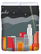 Los Angeles Duvet Cover by Karen Young