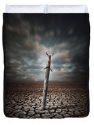 Lost Sword Duvet Cover by Carlos Caetano