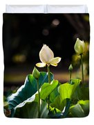 Lotuses In The Evening Light Duvet Cover by Jenny Rainbow