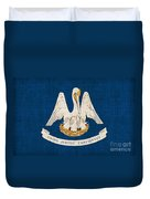 Louisiana State Flag Duvet Cover by Pixel Chimp