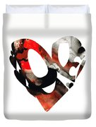Love 18- Heart Hearts Romantic Art Duvet Cover by Sharon Cummings
