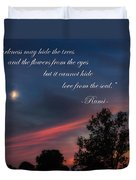 Love From The Soul Duvet Cover by Bill Wakeley