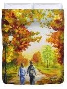 Love In Autumn Duvet Cover by Veikko Suikkanen