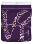Love Quatro - Heart - S77a Duvet Cover by Variance Collections