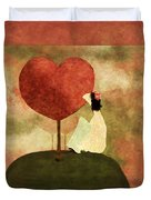 Love Tree -01b Duvet Cover by Variance Collections
