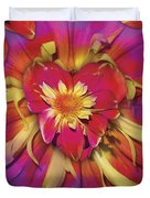 Loveflower Orangered Duvet Cover by Alixandra Mullins