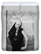 Lovely Bw Liberace Home Palm Springs Duvet Cover by William Dey