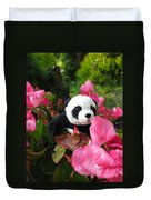 Lovely Pink Flower Duvet Cover by Ausra Huntington nee Paulauskaite