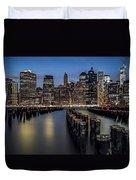 Lower Manhattan Skyline Duvet Cover by Eduard Moldoveanu