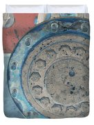 Lug Nut Wheel Right  Duvet Cover by Heather Kirk