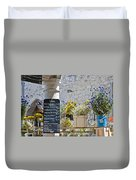 Lunch Time On Market Day Duvet Cover by Georgia Fowler
