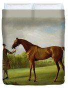 Lustre Held By A Groom Duvet Cover by George Stubbs