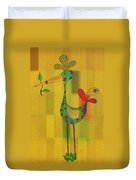 Lutgarde's Bird - 061109106y Duvet Cover by Variance Collections
