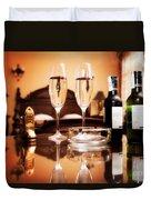 Luxury Interior Hotel Room With Elegant Service Duvet Cover by Michal Bednarek