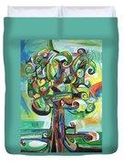Lyrical Tree Duvet Cover by Genevieve Esson