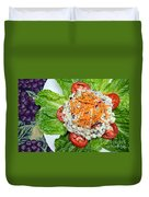 Macaroni Salad 1 Duvet Cover by Andee Design