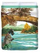 Macduff Fishing Duvet Cover by Margaryta Yermolayeva