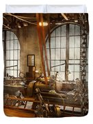 Machinist - The Crowded Workshop Duvet Cover by Mike Savad