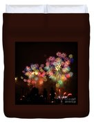 Macy's July 4th Fireworks New York City  Duvet Cover by Nishanth Gopinathan