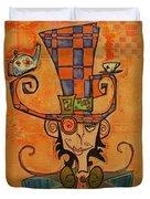 Mad Hatter Duvet Cover by Ellen Henneke