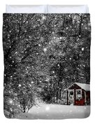 Made in Maine Winter  Duvet Cover by Brenda Giasson