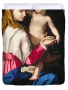 Madonna and Child Duvet Cover by Alessandro Allori