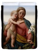 Madonna And Child Duvet Cover by Franz Ittenbach