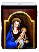Madonna And Child Duvet Cover by Genevieve Esson