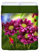 Magenta Flowers Duvet Cover by Chuck Staley