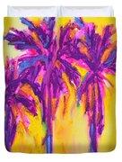 Magenta Palm Trees Duvet Cover by Patricia Awapara