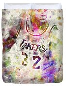 Magic Johnson Duvet Cover by Aged Pixel