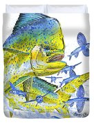 Mahi Mahi Duvet Cover by Carey Chen