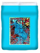Maiden In Blue - Mary In The Temple Duvet Cover by Gloria Ssali