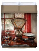 Mailman - The Mail Scale  Duvet Cover by Mike Savad