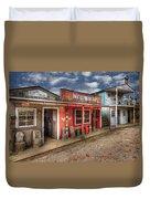 Main Street Duvet Cover by Debra and Dave Vanderlaan