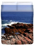 Maine Seascape Duvet Cover by Kathleen Struckle