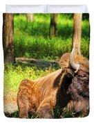 Majestic Bison Duvet Cover by Mariola Bitner