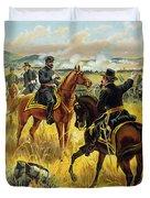 Major General George Meade At The Battle Of Gettysburg Duvet Cover by Henry Alexander Ogden