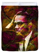 Malcolm X 20140105 Duvet Cover by Wingsdomain Art and Photography