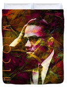 Malcolm X 20140105 with text Duvet Cover by Wingsdomain Art and Photography